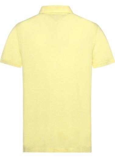 Tommy Hilfiger Erkek Lınen Blend Slım Polo Tişört MW0MW09757 Renkli